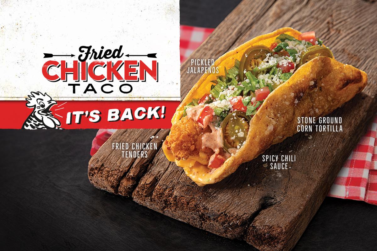 BAWK! The Fried Chicken Taco is BAAACK!