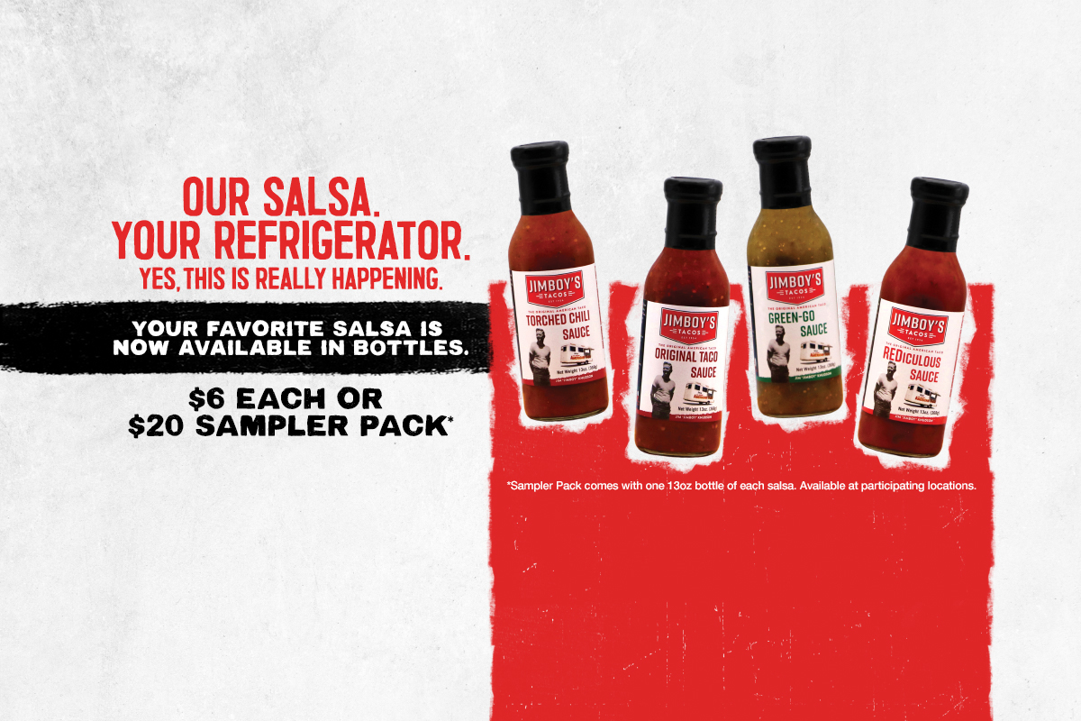 OUR SALSA. YOUR REFRIGERATOR. YES, THIS IS REALLY HAPPENING.
